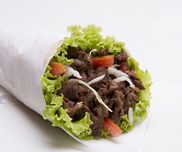 Steak-Strips Lettuce Wrap Wrapped in Butcher Paper