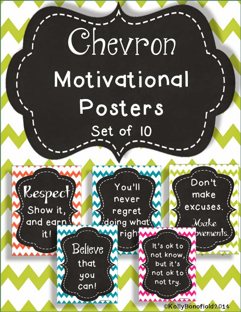 http://www.teacherspayteachers.com/Product/Chevron-Motivational-Posters-1266831