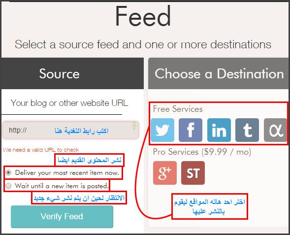 شرح مفصل لموقع dlvr لنشر محتوى موقعك تلقائيا على شبكات التواصل الاجتماعي