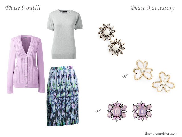 How to Build a Capsule Wardrobe of Accessories in a Grey, Blue, Lilac and Black color palette
