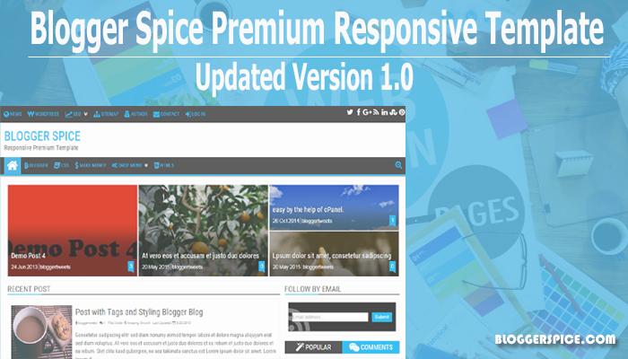Blogger Spice Premium Responsive Blogger Template