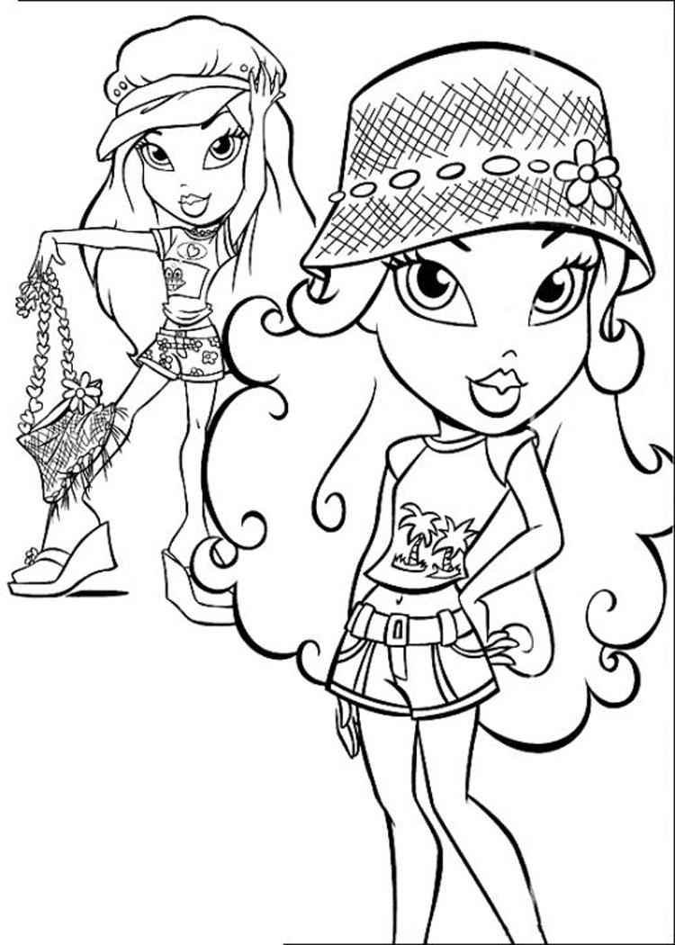 bratz fashion pixiez coloring pages