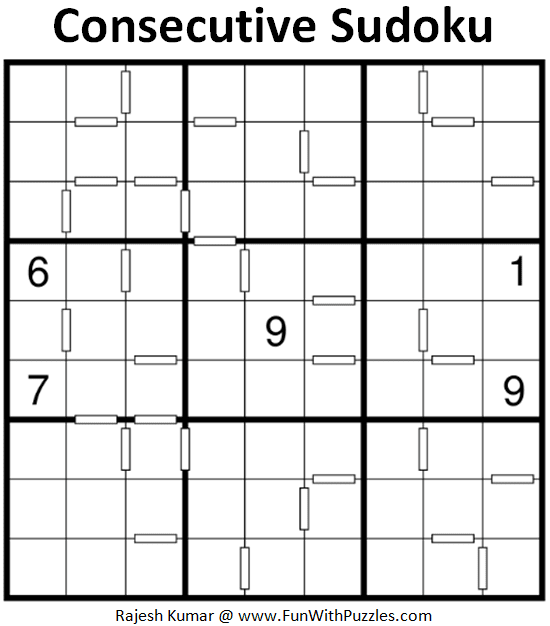 Consecutive Sudoku Puzzle (Fun With Sudoku #293)
