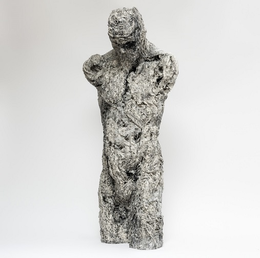 "Anna Gillespie, ""Torso"" - plaster, resin, mixed media 