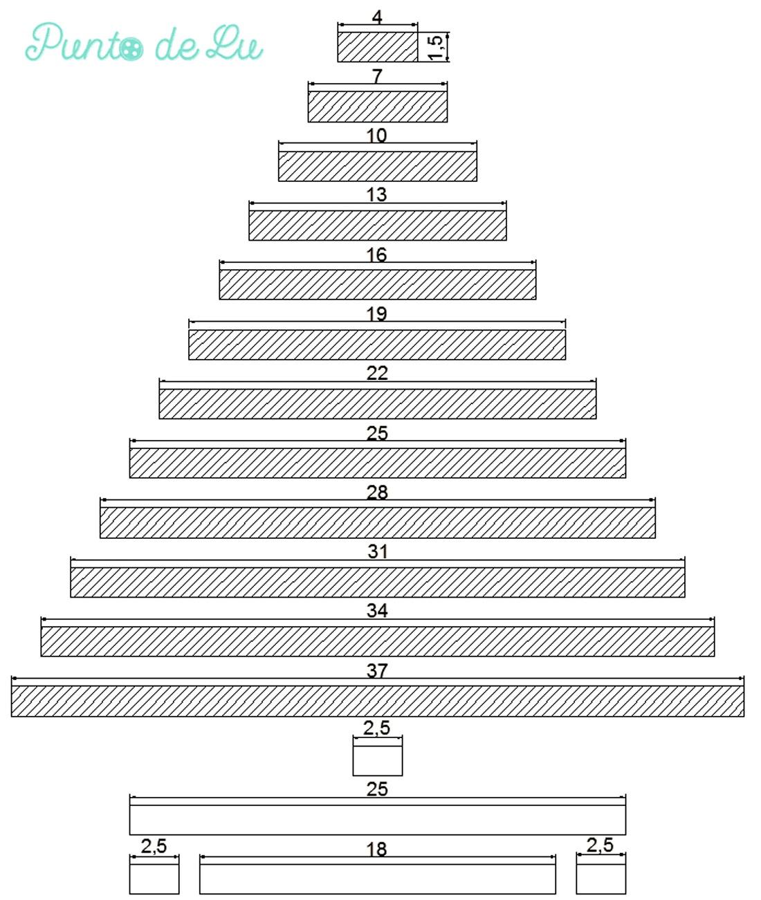 Calendario de adviento de madera Esquema