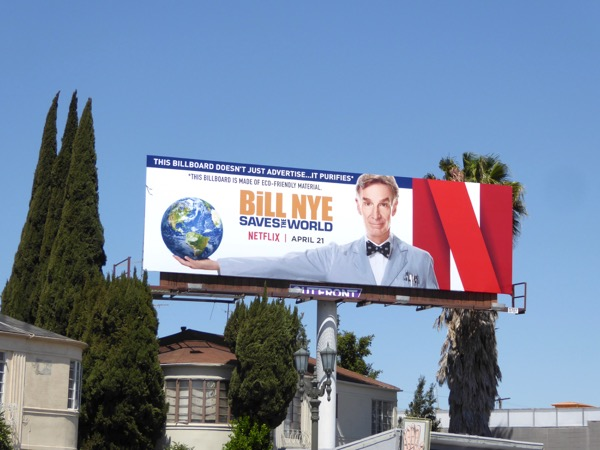 Bill Nye Saves the World Netflix series billboard