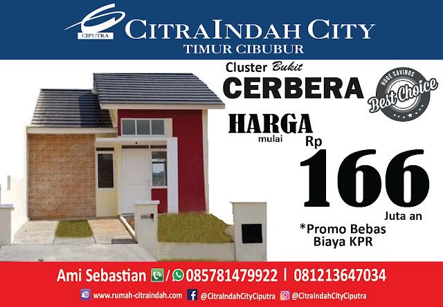 Bukit CERBERA Citra Indah City dipasarkan - Harga Mulai 166 Jt an