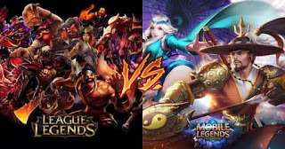 Mobile Legends bang bang versis League Of Legends