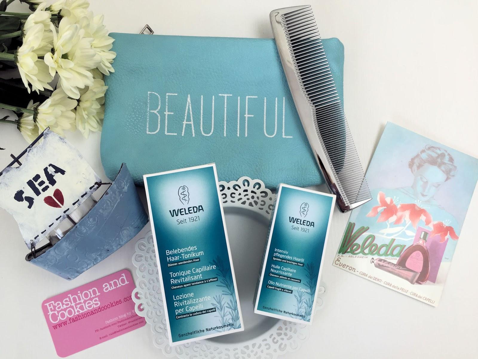 Weleda Lozione Rivitalizzante al rosmarino e Olio nutriente capelli su Fashion and Cookies beauty blog, beauty blogger