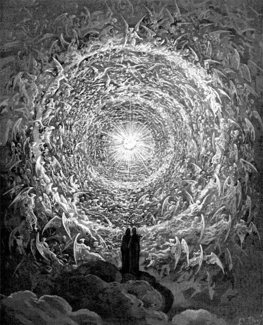 Is Gustave Doré s  Saintly throng in the shape of a rose  the source material for the illustration for the NYT article  Everything Is for Sale Now. Even Us ?