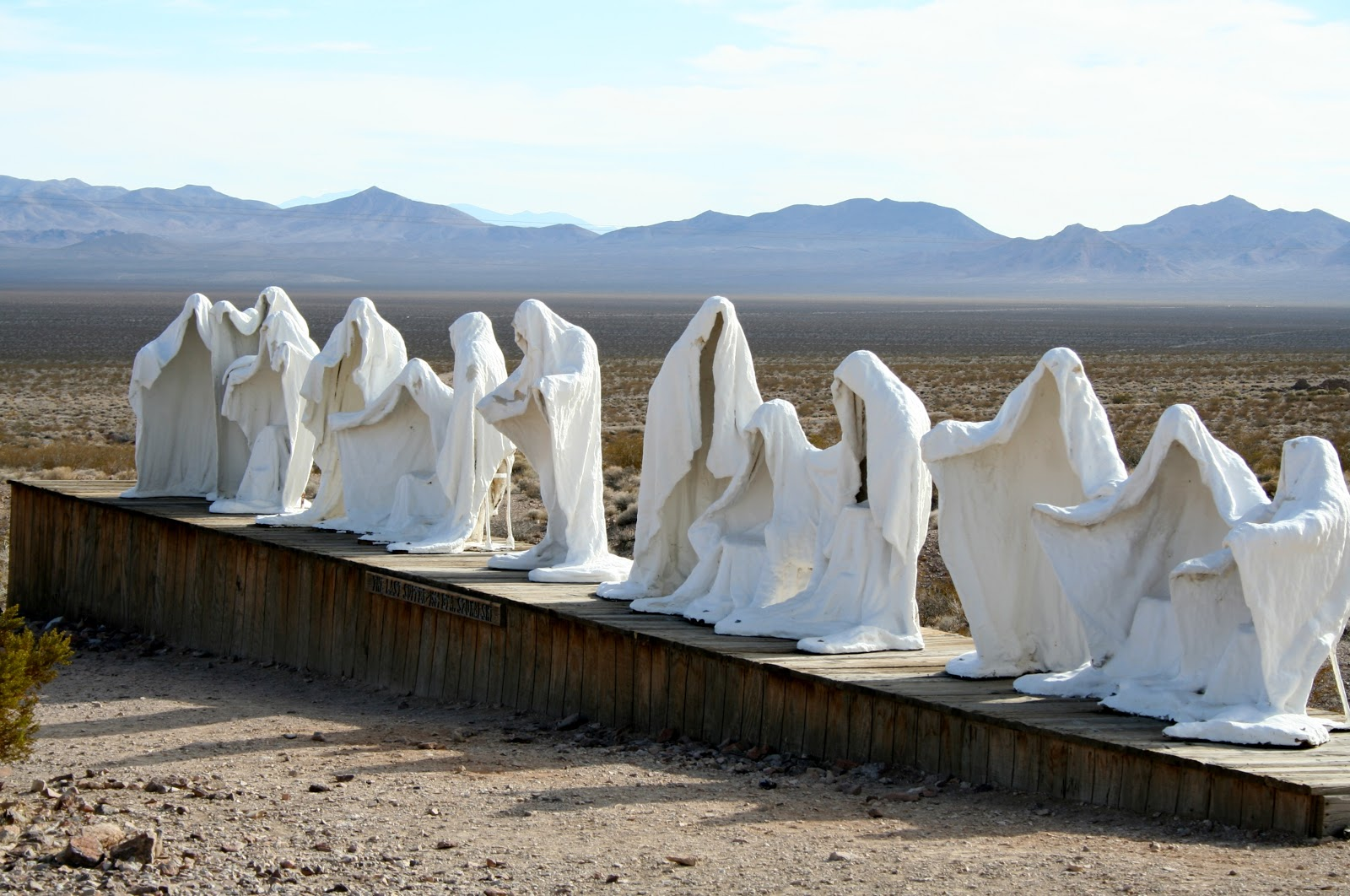 Rhyolite, NV - Last Supper and Giant Pink Woman