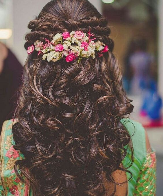 Beautiful Bridal Hairstyle For Long Hair: Beautiful Indian Bridal Hairstyles For Long Hair