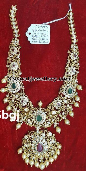 172 Grams Floral Pachi Necklace