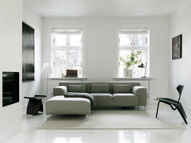 salon con sofa de deiseno en gris chicanddeco