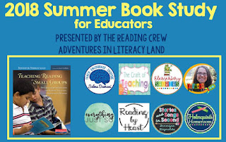 If you're interested in learning more about teaching reading in small groups, check out Jennifer Serravallo's book. This book study will help guide you along as you read. It is being sponsored by The Reading Crew, a group of reading specialists/bloggers.