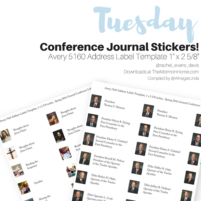The Mormon Home PDF General Conference Journal Stickers
