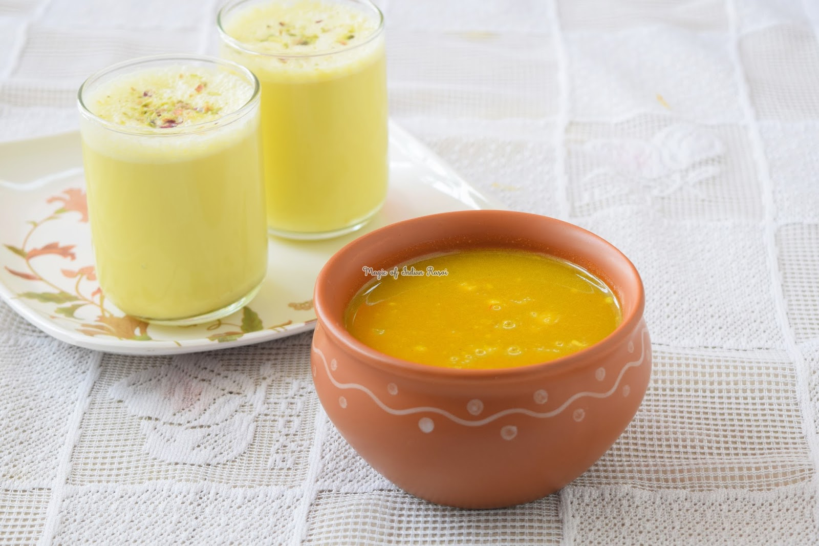 Thandai Sharbat - Kesari Shahi Thandai Syrup Recipe - शाही केसरी ठंडाई शरबत  रेसिपी - Priya R - Magic of Indian Rasoi
