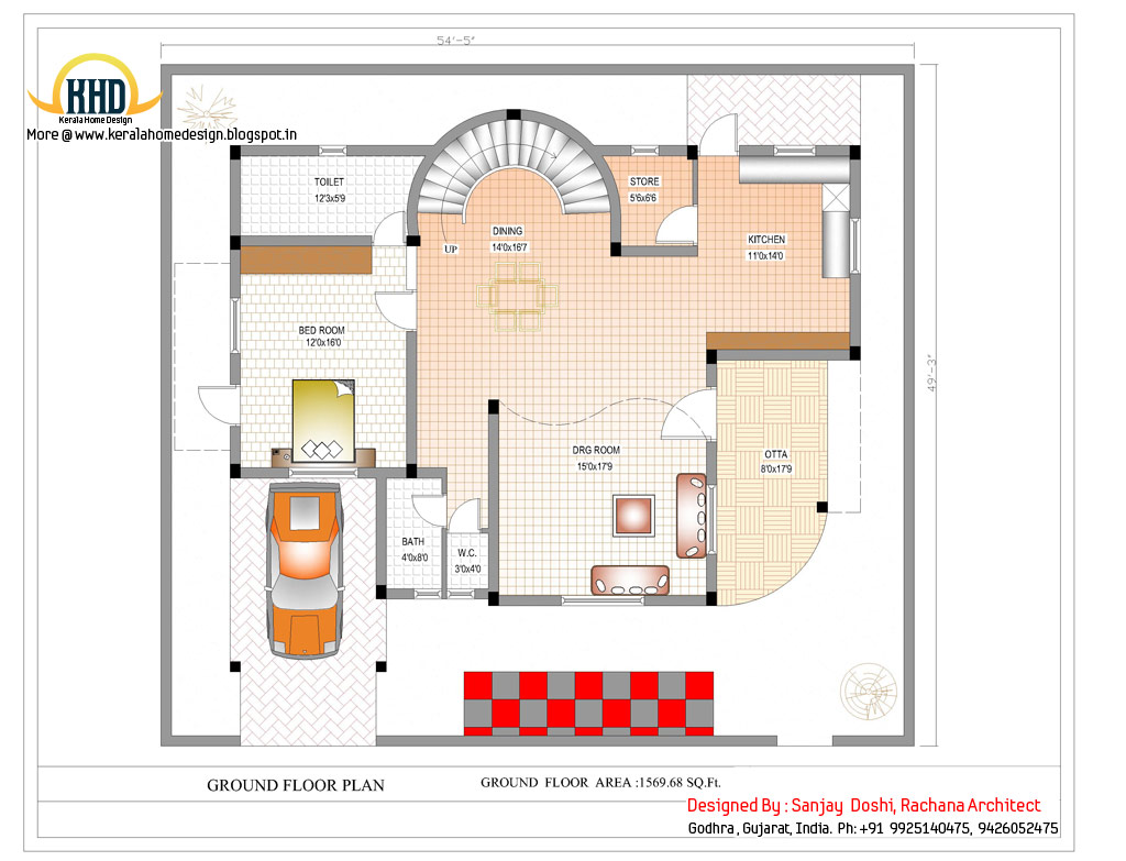 Duplex house plan and elevation 3122 sq ft indian for Online floor