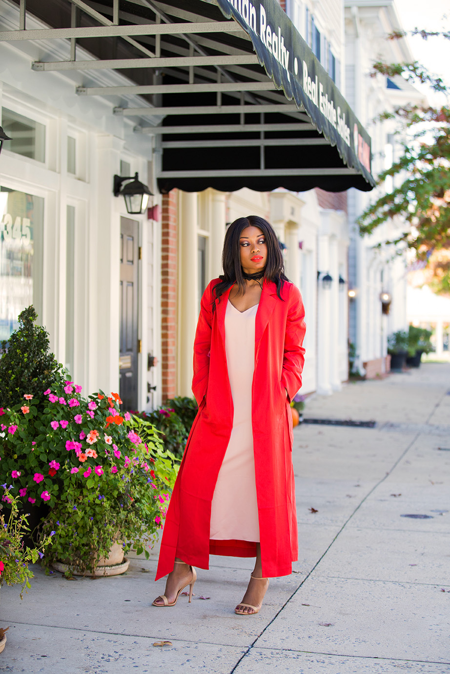 how to wear slip dress and oversized jacket, www.jadore-fashion.com