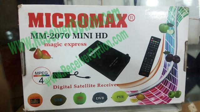 MICROMAX MM-2070 MINI HD RECEIVER DUMP FILE