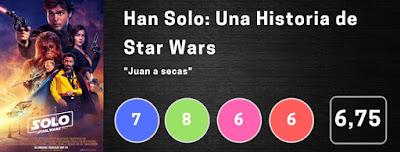 Nota Han Solo: Una Historia de Star Wars