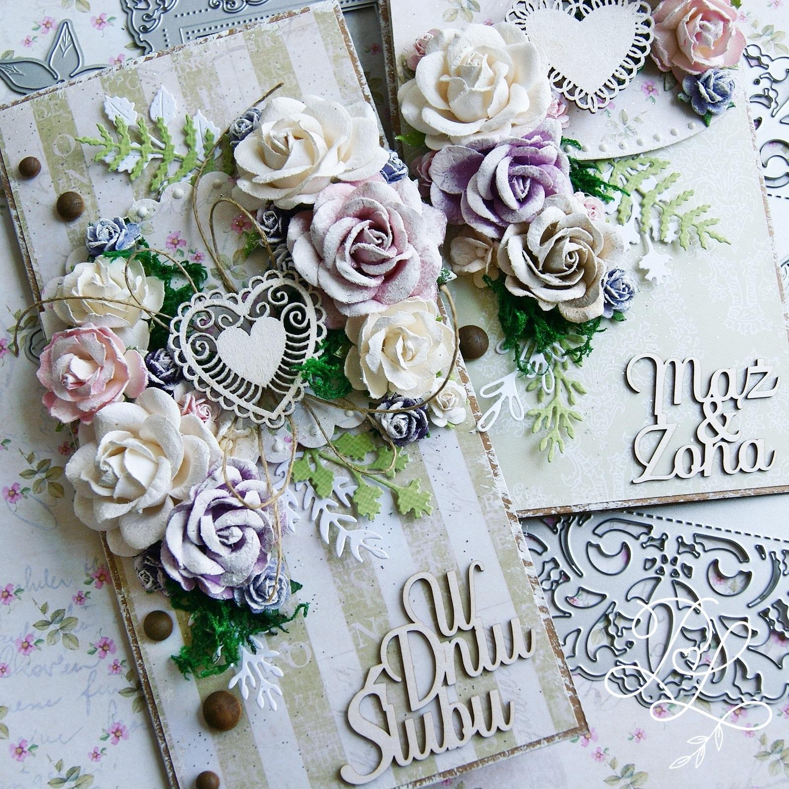 Kwieciste kartki ślubne - Papierowe Love sklep papierniczy i pracownia rękodzieła Katarzyna Rajczakowska