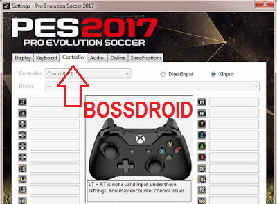 Cara Setting Stick Gamepad PES 2017 PC Laptop