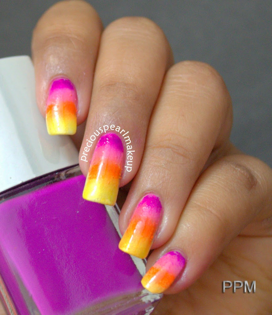 preciouspearlmakeup: Cool Sunset Nails