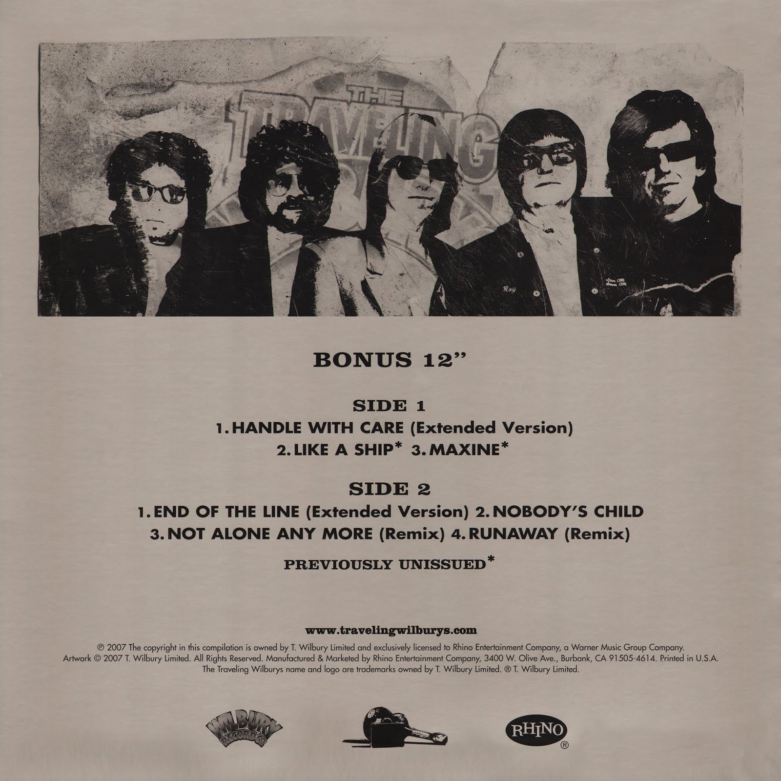 Rockronolog 237 A 2007 The Traveling Wilburys Collection