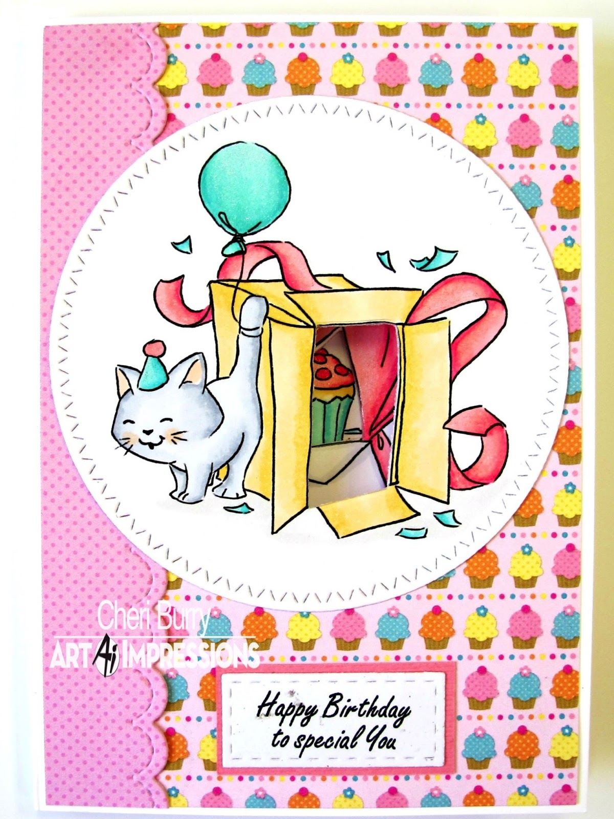 Art Impressions Blog: Happy Birthday By Cheri Burry