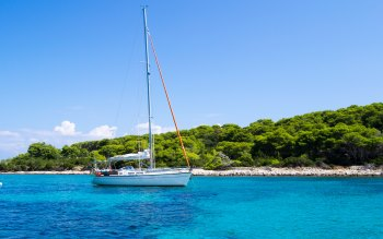 Wallpaper: Holiday. Vacation. Travel. Sea. Sailboat
