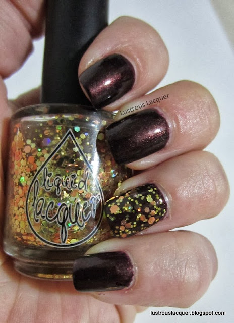 Raisin the roof with glitter accent, Liquid Laquer Penny Jar