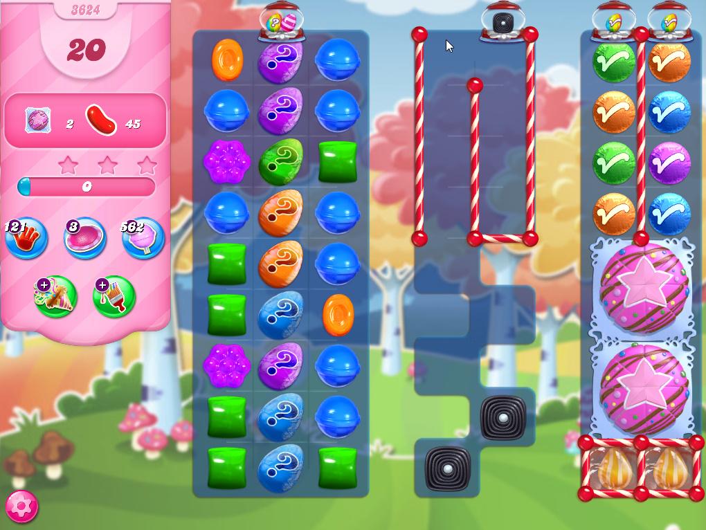 Candy Crush Saga level 3624