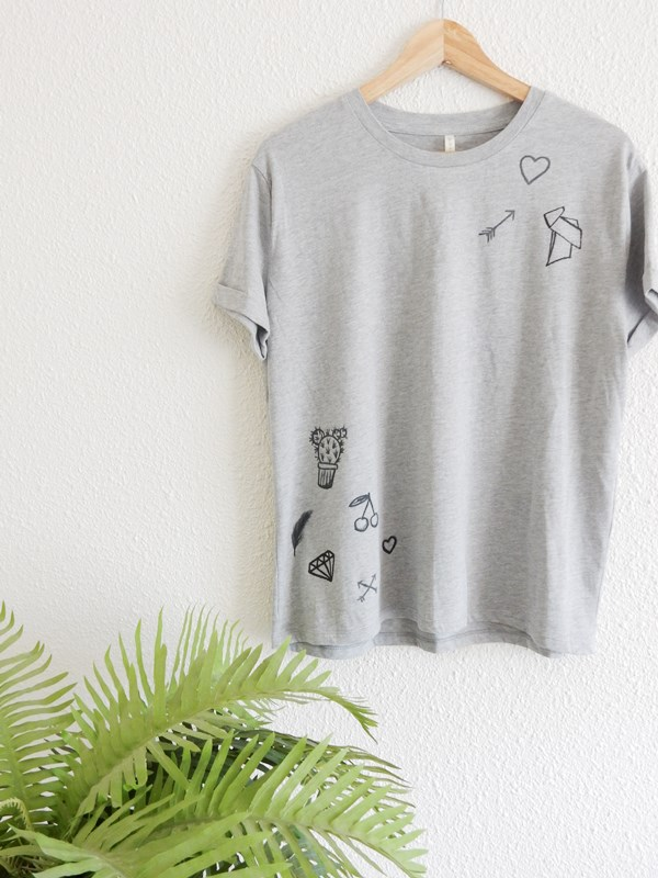 DIY : t-shirt tatoué