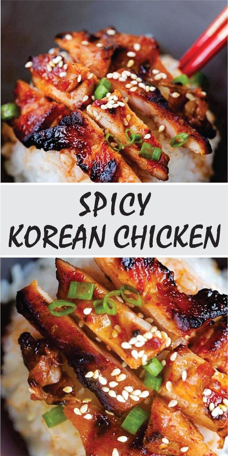 Spicy Korean Chicken Recipe Spesial Food