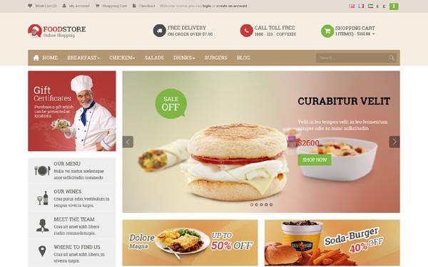 Pav Food Store Responsive Opencart Theme Free Download