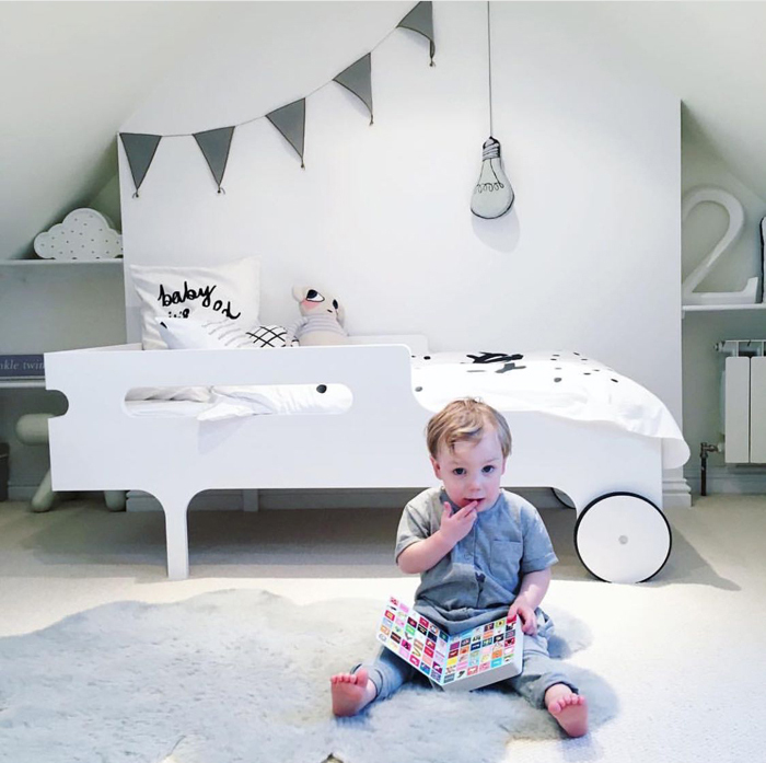 R toddler bed white from Rafa-kids
