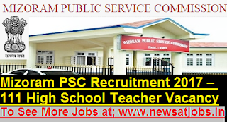 Mizoram-PSC-111-Teacher-Recruitment-2017