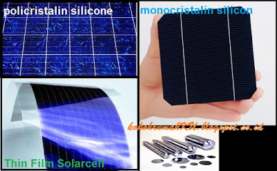 Jenis berdasarkan material pembuat panel surya