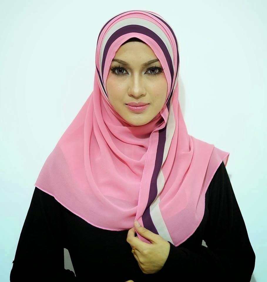 tudung shawl rekaan gaya baru 2014