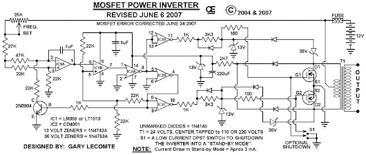 1000W Power Inverter Circuit Diagrame   | Electrical Engineering World