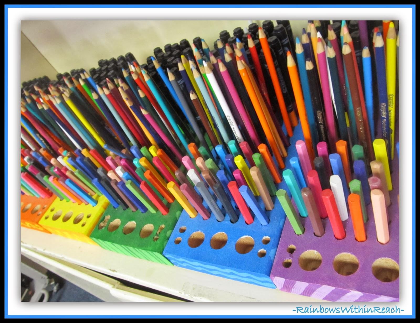 Art Room Organization of Materials via RainbowsWithinReach