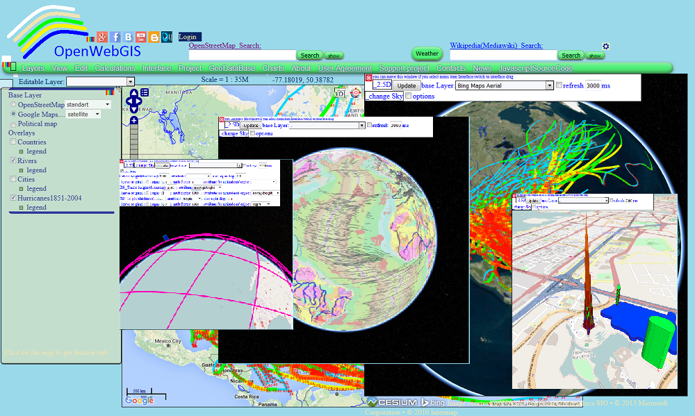 OpenWebGIS is free online GIS: October 2015