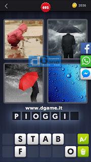 4 Immagini 1 Parola soluzione livello 695