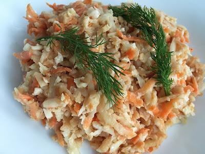 Surówka z rzepy i marchewki