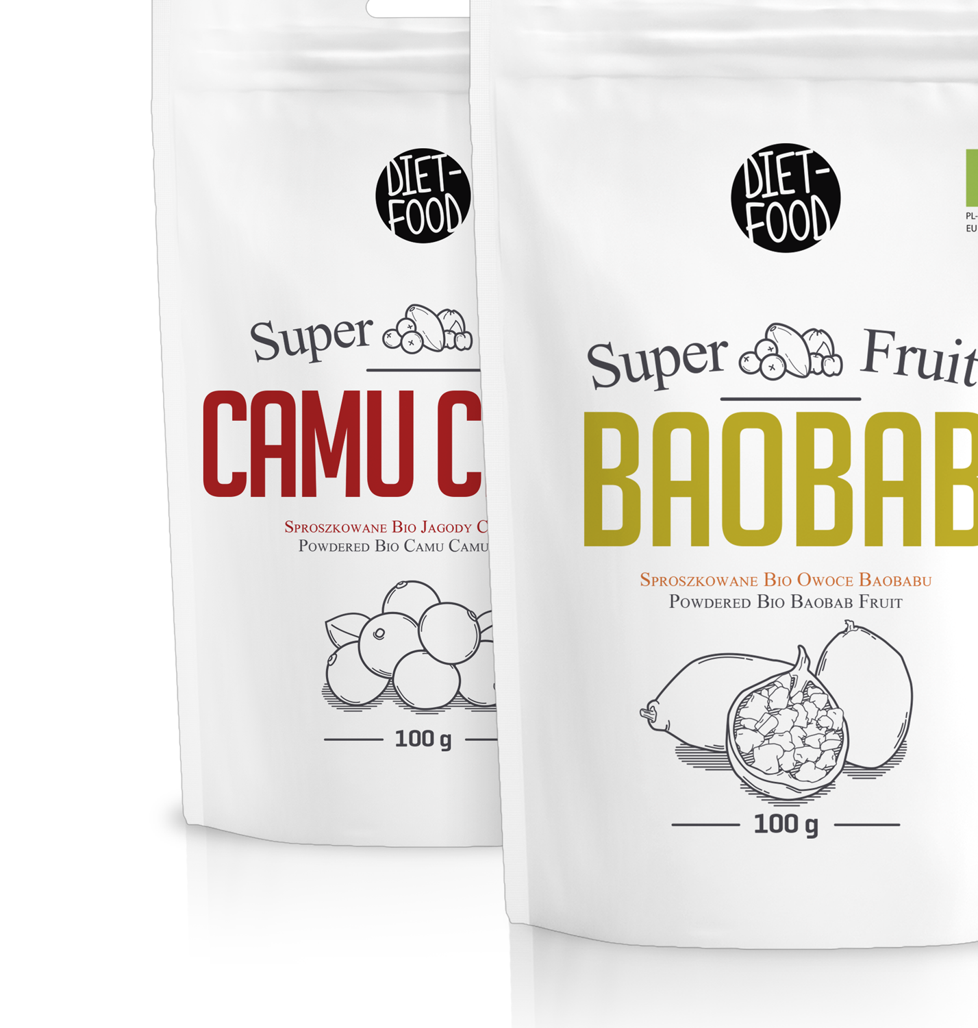 Organic Super Fruit On Packaging Of The World