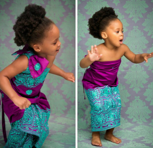 Cute new photos of Flavour and Sandra Okagbue's daughter, Gabrielle