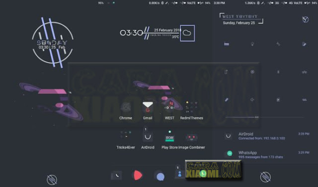 MIUI Theme West Thythyt Mtz For Xiaomi New Desain