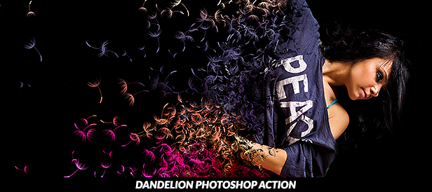 Dandelion Photoshop Action