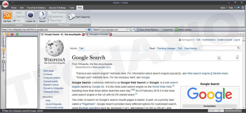 Hydra Browser Screenshot